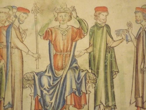 King Harold at his January 1066 coronation