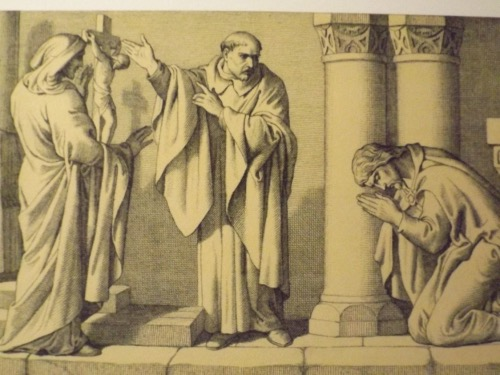 King Harold praying before the Holy Cross as depicted by Daniel Maclise in 1866